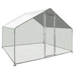 Turvallinen kanatarha johon ei petolinnut pääse. Pinta-ala 3 x 2 metriä ja korkeus 2 metriä. Yksinkertainen modulraarinen rakenne. Galvanisoitu PVC pinnoitettu metalliverkko ja galvanisoidut runkoputket. Hinta sisältää käyntioven ja UV-kestävän katospress