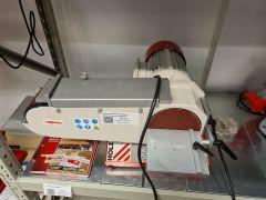 Holzmann BTS75-2 laikka ja nauhahiomakone metallille esittelykone
