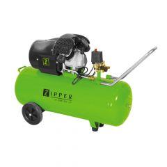 Kaksisylinterinen kompressori kunnollisella 97 litran painesäiliöllä. Kaksi pikaliitäntää. Tuotto 272 litraa / min. 8 Bar paineella.