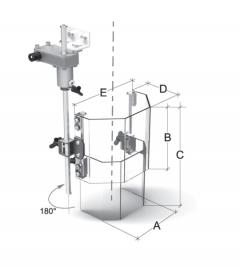 Karasuoja pylväsporakoneeseen 180 mm teleskooppi
