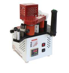 Kannettava reunalistoituskone joka sopii PVC- ABS- ja puulistojen liimaamiseen. Käytetään raeliiman kanssa. Syöttönopeus portaattomasti säädettävissä.