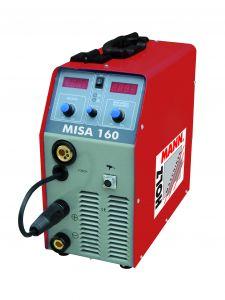 MISA 160 MIG/MAG invertteri.  Kevytkokoinen ja helppokäyttöinen invertterikone 230V. Hitsausvirta-alue 30-160A.
