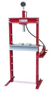 Lattiamallinen korjaamopuristin / konepajapuristin asennus- ja korjaustöihin, 20 tonnin puristusvoima.