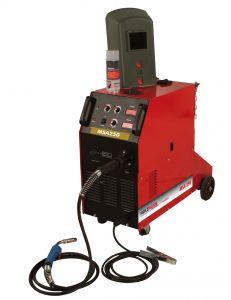 MSA 250 MIG/MAG hitsauslaite. Kompaktikokoinen ja helppokäyttöinen voimavirtalaite.