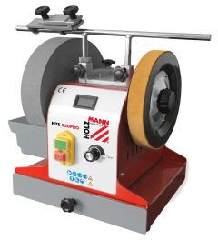 Universaali PRO teroituskone veitsille, taltoille ja muille HSS lattaterille. Sopiva laite ammattikäyttöön. Portaaton pyörintänopeudensäätö.