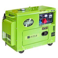 Dieselkäyttöinen ja hiljainen generaattori starttimoottorilla. Liitännät 1 x 230V ja 1 x 400V.