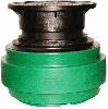 Näpsä Green 650 pumppaamon teleskooppijatko valurautakannella